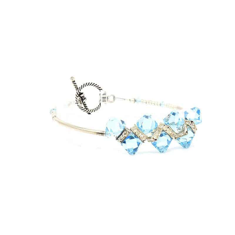 Bondi Beach Crystal Bracelet - Right