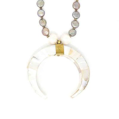 Ice Crescent Pearl Necklace