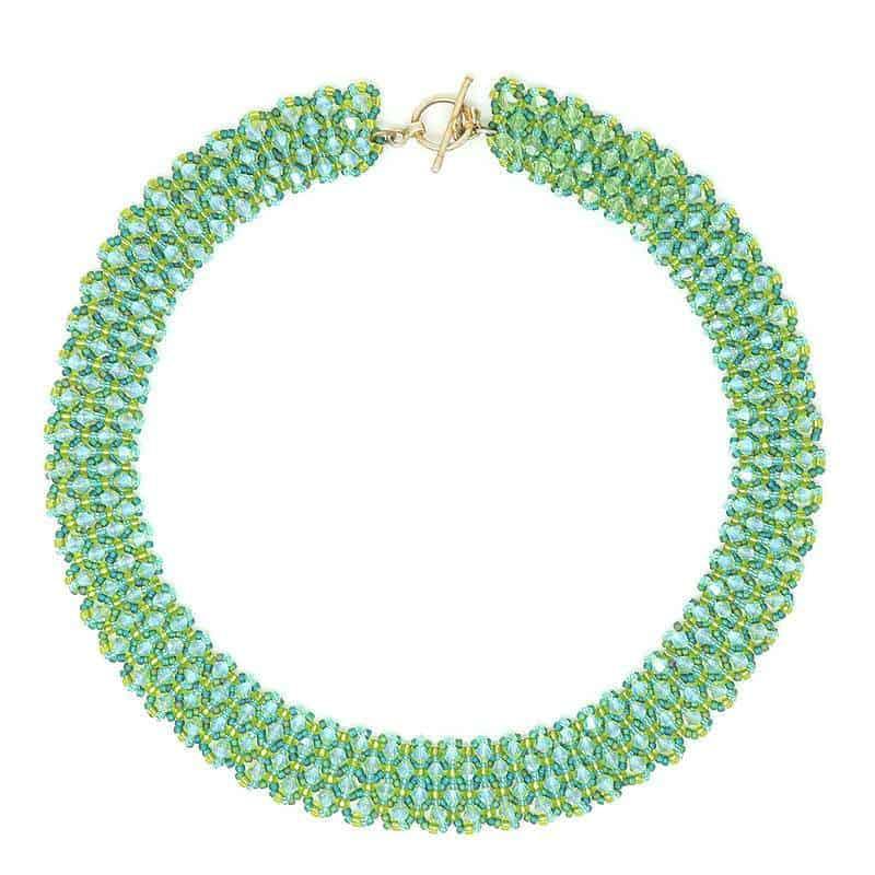 Swarovski Peridot Crystal Necklace