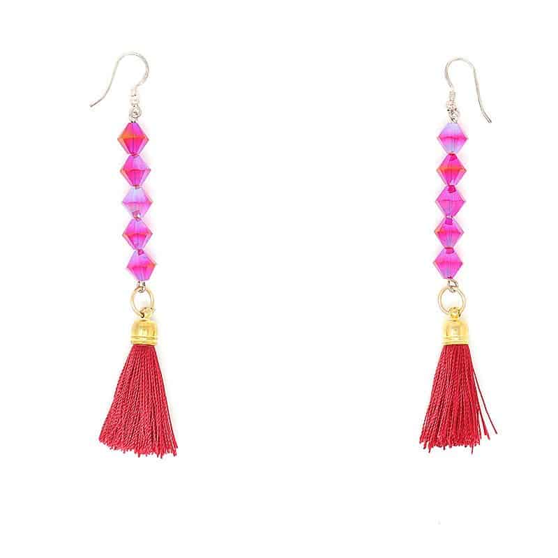Swarovski Siami Crystal Earrings