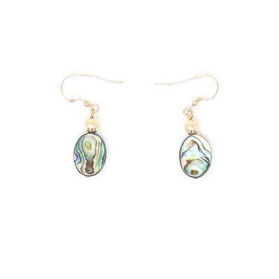 Abalone Gold Splash Earrings