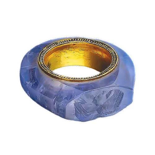 September Birthstone Sapphire Roman Ring