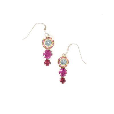 Lotus Swarovski Pink Crystal Earrings - HerMJ