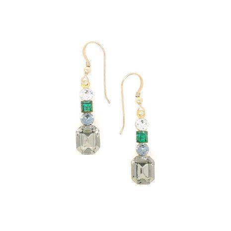 Paris Golden Lights Swarovski Crystal Earrings - HerMJ