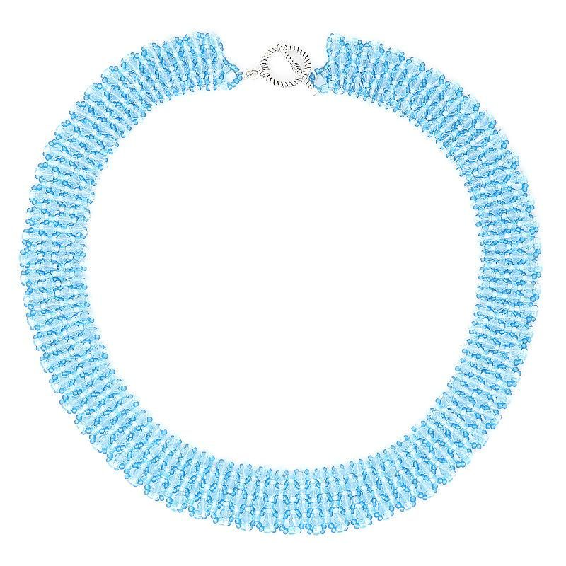 warovski Aquamarine Crystal Necklace