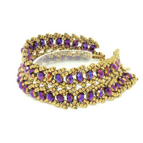 Ultraviolet Crystal Bracelet - Left