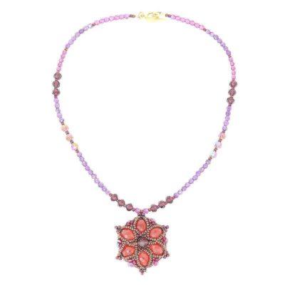 Cherry Quartz Amethyst Necklace Set