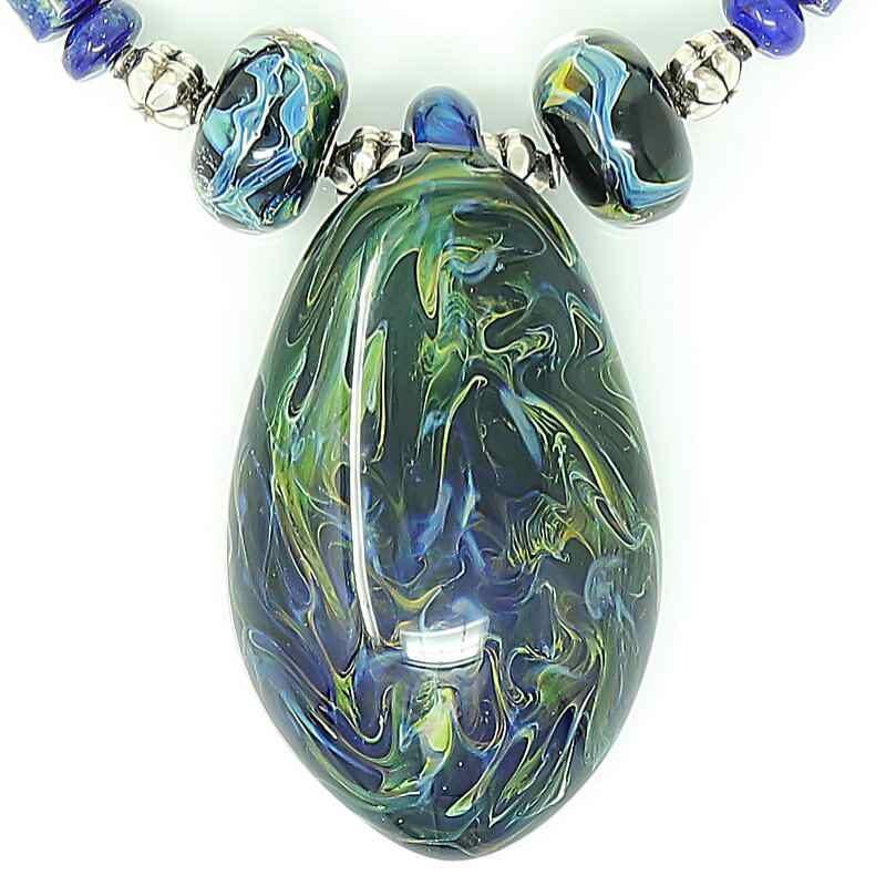 Lapis Lazuli Sterling Silver Pendant Necklace - Pendant